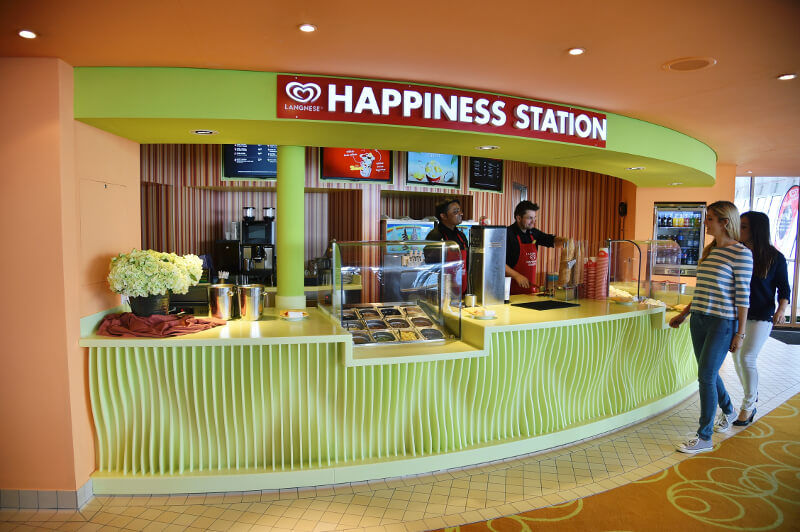 Happiness Eisstation auf AIDAblu